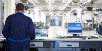 Werkplaats Ford Garage Hamron in Overijse