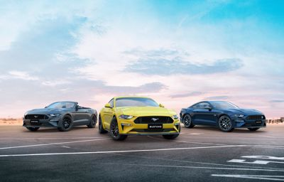 Mustang jumps to the front